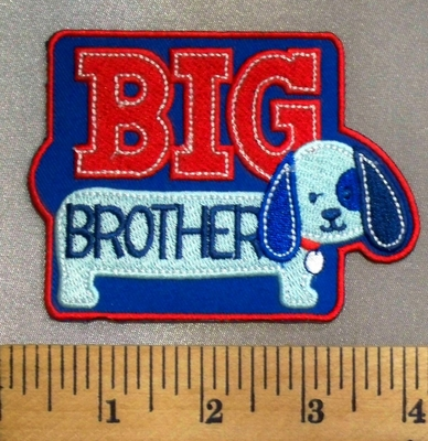 5065 C - Big Brother - Red - White - Blue - Embroidery Patch