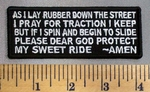 5069 CP - A Bikers Prayer - Embroidery Patch