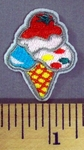 5086 C - Mini Ice Cream Cone - Embroidery Patch
