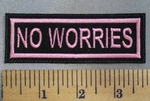 5108 L - No Worries - Pink - Embroidery Patch