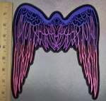 5113 CP  - Stenciled Multi - Colored Angel Wings - Back Patch - Embroidery Patch