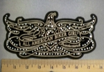 5127 G - Rhinestone - Bling - Open Winged Phoenix - Embroidery Patch
