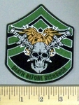 5137 CP - Army Stripes With Eagle - Two Swords Within Skull - Death Before Dishonor -Embroidery Patch
