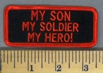 5144 S - My Son- My Soldier -My Hero - Red - Embroidery Patch