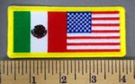 5158 CP - Mexican - American Flag - Embroidery Patch