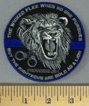5159 CP - The Wicked Flee When No One Purrsues - But The Righteous Are Bold As A Lion - Roaring Lion - Hand Cuffs -