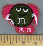 5161 C - Brown M&M In Chair - 3 Inch - Embroidery Patch