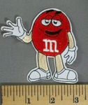5164 C - Red M&M - 3 Inch - Embroidery Patch