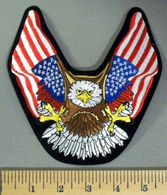 5170 S - Eagle With American Flag Wings - Embroidery Patch