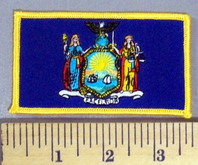 5172 S - New York State Flag - Embroidery Patch