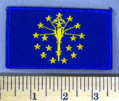 5177 S - Indiana State Flag - Embroidery Patch