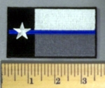 5180 CP - Texas Flag - Blue Line - Embroidery Patch