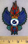 5185 N - Eyeball With Wings - Spear And Fire - Embroidery Patch
