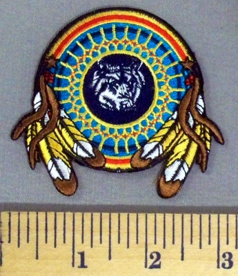 5190 N - Wolf Dreamcatcher - Embroidery Patch
