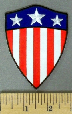 5196 G - Shield Of American Flag - Embroidery Patch