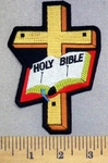 5213 S - Holy Bible With Cross - Embroidery Patch