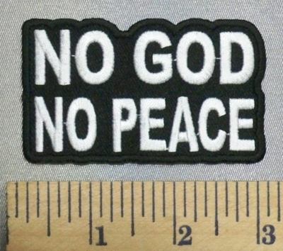 5220 CP - NO GOD - NO PEACE - Embroidery Patch