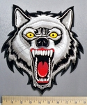 5242 CP - Vicious Wolf - Back Patch - Embroidery Patch