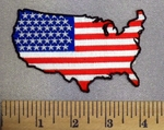 5255 CP - U.S.A. Within American Flag - Embroidery Patch