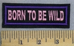 5262 L - Born To Be Wild - Pink - Purple - Embroidery Patch