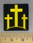 5267 CP - 3 Yellow Cross - Embroidery Patch