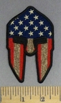 5272 CP - Spartan - American Flag - Embroidery Patch