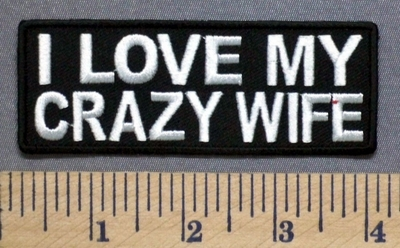 5276 CP - I Love My Crazy Wife - Embroidery Patch