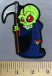 5289 CP - Green Monster With Scythe - Embroidery Patch