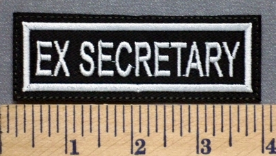 5297 L - Ex - Secretary - Embroidery Patch
