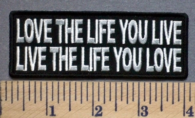 5306 CP - Love The Life You Live - Live The Life You Love - Embroidery Patch