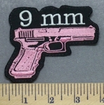 5314 L - 9MM Hand Gun - Pink - Embroidery Patch