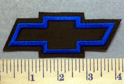 5319 L - Chevy Bow Tie - Blue - Embroidery Patch
