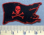 5320 CP - Jolly Roger Flag - Embroidery Patch