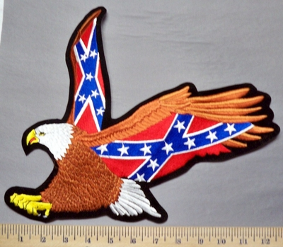 5326 R - Flying Eagle With Confederate Flag Wings - Back Patch - Embroidery Patch