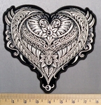 5328 G - Decorative Heart - Back Patch - Embroidery Patch