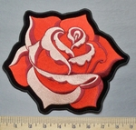 5331 G -  Single Red Rose - Back patch - Embroidery Patch