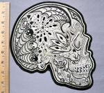 5335 G - Sugar Skull - Side View - Back Patch - Embroidery Patch