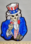 5340 G - Uncle Sam Skullman With Middle Finger - Back Patch - Embroidery Patch