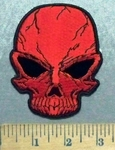 5545 CP - Red Skull - Embroidery Patch