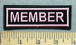5546 L - Member - Pink - Embroidery Patch