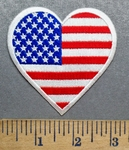 5553 CP - Heart Shaped American Flag - Embroidery Patch