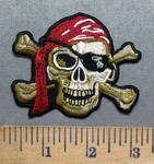 5554 CP - Skull Jolly Roger - Embroidery Patch