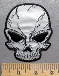 5555 CP - REFLECTIVE - Black Eyed Skull - Embroidery Patch