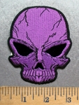 5561 CP - Purple Skull - Embroidery Patch