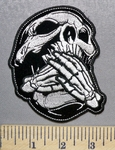 5563 CP - Speak No Evil - Skull - Embroidery Patch