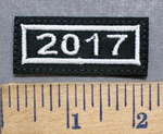 5565 L - Mini Year Patch - 2017 - Embroidery Patch