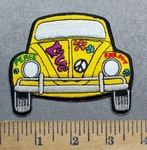 5571 CP - Yellow Love Bug - Volkswagon - Embroidery Patch