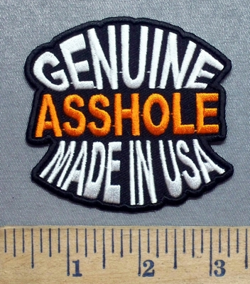 5572 CP - Genuine ASSHOLE - Made In USA - Embroidery Patch