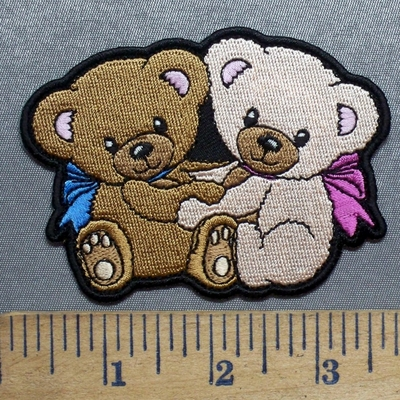 5575 CP - Two Teddy Bears - Embroidery Patch