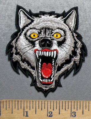 5589 CP - Growling Wolf - Embroidery Patch